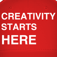 Design ~ Sessions College - Creativity Starts Here, Baseball Cap - Red