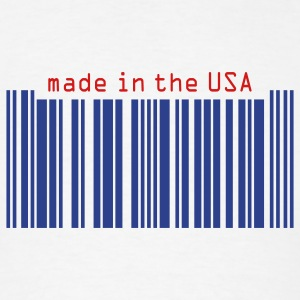 Barcode/made in USA - Men's T-Shirt