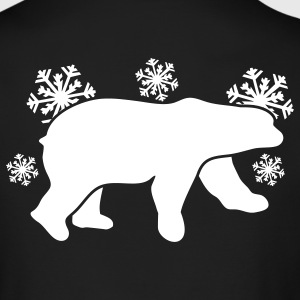 polar bear winter with snowflakes Long Sleeve Shirts - Men's Long Sleeve T-Shirt by Next Level