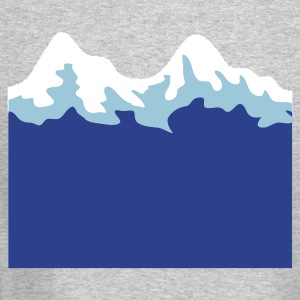simple mountain range Long Sleeve Shirts - Crewneck Sweatshirt