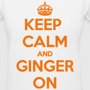 Keep Calm and Ginger On Women's T-Shirts - Women's V-Neck T-Shirt