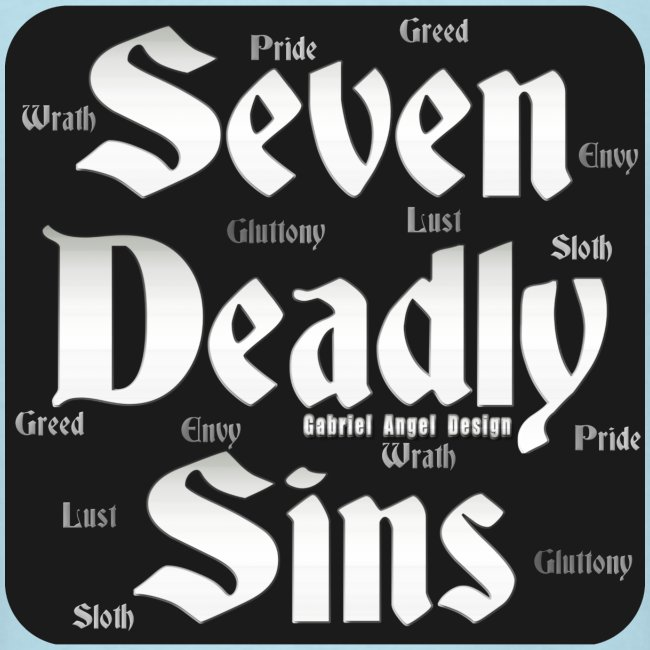 Gabrielangeldesign Seven Deadly Sins Logo Mens T Shirt