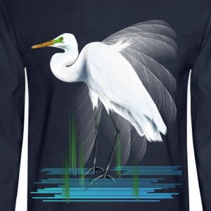 American Egret - Men's Long Sleeve T-Shirt