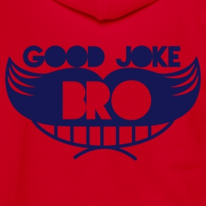 good joke bro grinning moustache man Zip Hoodies/Jackets - Unisex Fleece Zip Hoodie by American Apparel