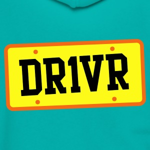 dr1ver DRIVER licence plate Zip Hoodies/Jackets - Unisex Fleece Zip Hoodie by American Apparel
