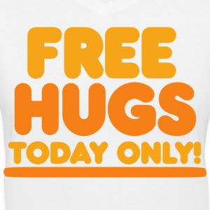 Free Hugs - Women's V-Neck T-Shirt