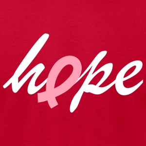 hope for breast cancer - Men's T-Shirt by American Apparel