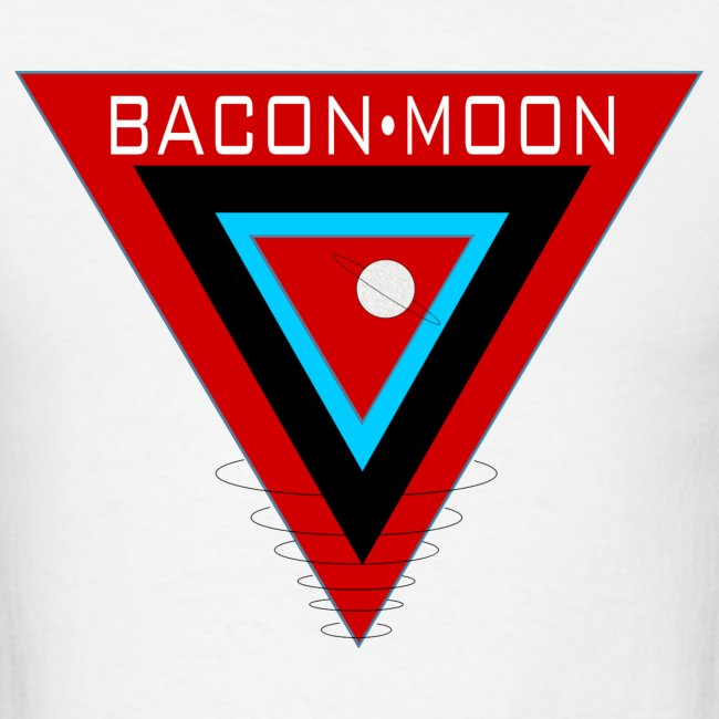 Bacon Moon White T Black Rings