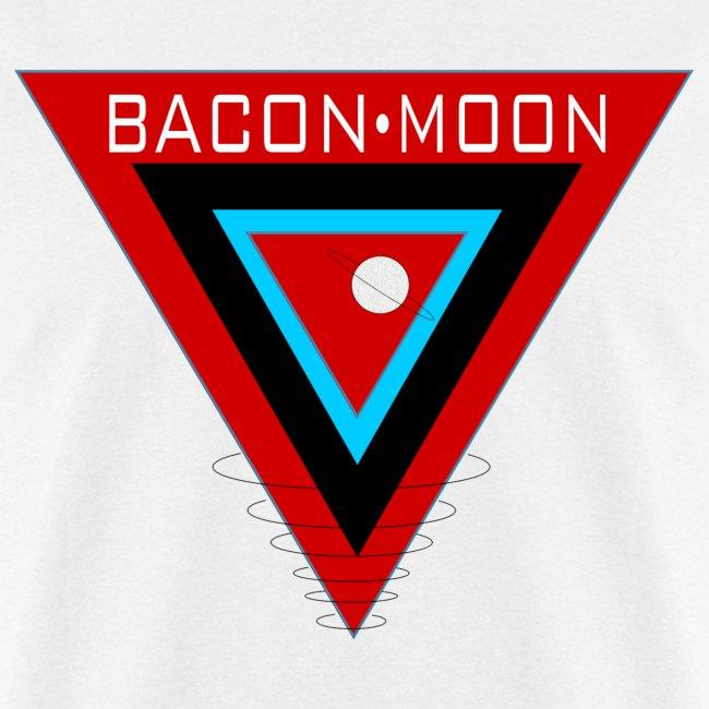 Bacon Moon White T Black Rings