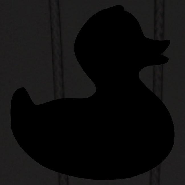 duckie - fuzzy black on black