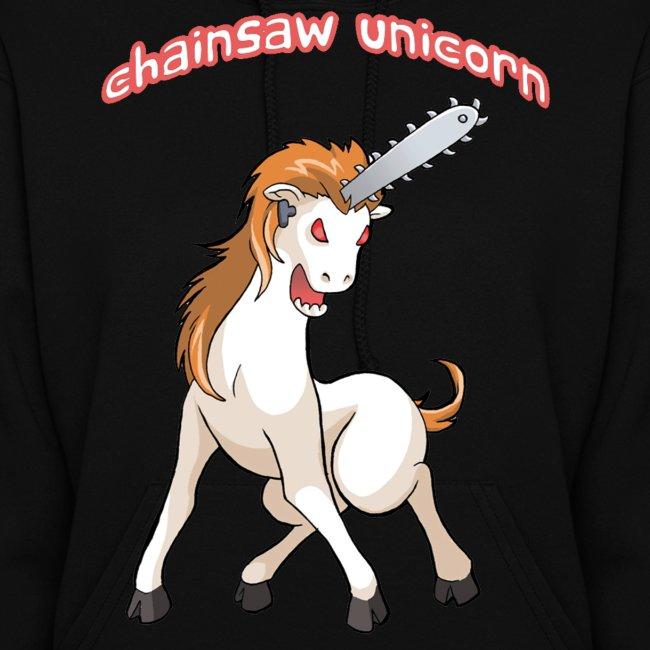 Chainsaw Unicorn Hoodie for women