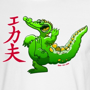 Kung Fu Crocodile Long Sleeve Shirts - Men's Long Sleeve T-Shirt