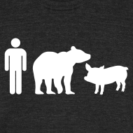 Design ~ Man Bear Pig : Soft T-Shirt
