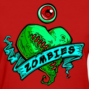 eye heart zombies green women - Women's T-Shirt