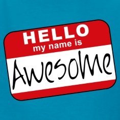 Hello, my name is awesome Kids' Shirts
