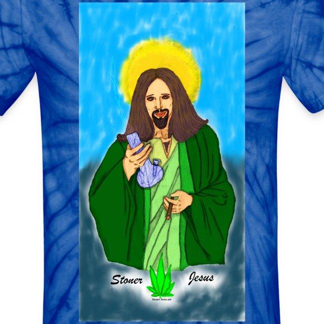Stoner Jesus t-shirt in 3 tie-dye colors
