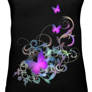 Bright Purple Butterflies - Women's V-Neck T-Shirt