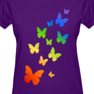 Rainbow Butterflies - Women's T-Shirt