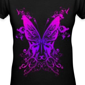 Pink N Purple Butterfly - Women's V-Neck T-Shirt