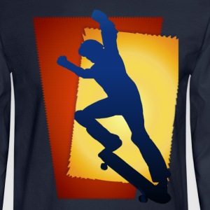 Skateboarding Rocks - Men's Long Sleeve T-Shirt