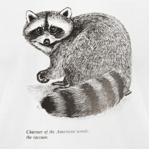 racoon charmer - Men's T-Shirt by American Apparel