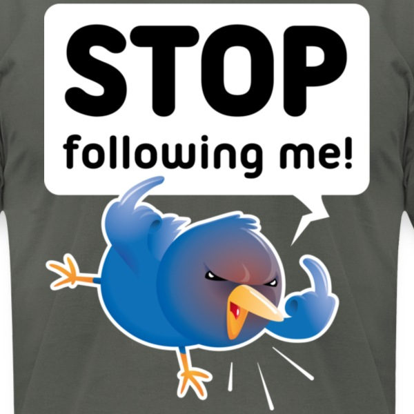 Stop Following Me T-Shirts - Men's T-Shirt by American Apparel