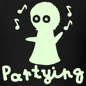 Partying Glow in the Dark - Men's T-Shirt