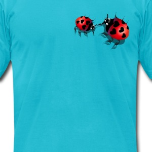 Two Little Ladybugs - Men's T-Shirt by American Apparel