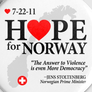 Hope for Norway Buttons - Large Buttons