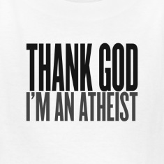Thank god i am an atheist Kids' Shirts