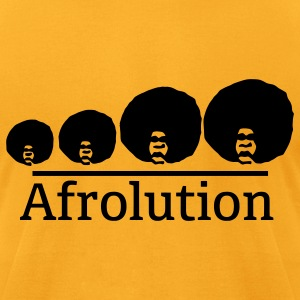 Afro Afrolution T-Shirts - Men's T-Shirt by American Apparel