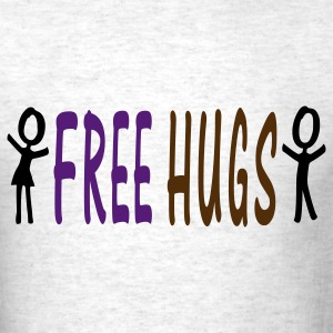 Free Hugs txt  Men's Standard Weight T-Shirt - Men's T-Shirt