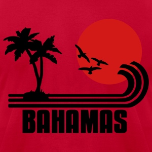 Bahamas, palm trees, sun beach retro design, wanderlust T-Shirts - Men's T-Shirt by American Apparel