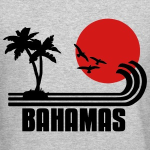 Bahamas, palm trees, sun beach retro design, wanderlust Long Sleeve Shirts - Crewneck Sweatshirt