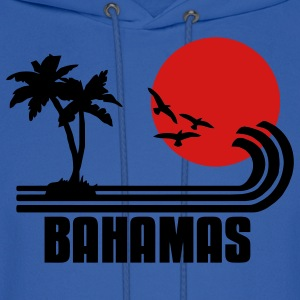 Bahamas, palm trees, sun beach retro design, wanderlust Hoodies - Men's Hoodie
