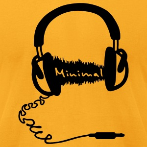 Headphones Audio Wave Theme: Minimal T-Shirts - Men's T-Shirt by American Apparel