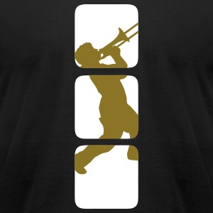 Trumpet, trombone Musicians band motif, jazz & other music genres Other - Men's T-Shirt by American Apparel