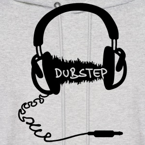 Headphones Headphones Audio Wave Motif: Dubstep Hoodies - Men's Hoodie