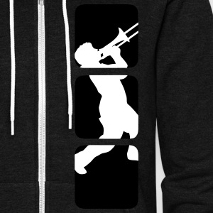Trumpet, trombone Musicians band motif, jazz & other music genres Other - Unisex Fleece Zip Hoodie by American Apparel