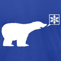 Polar bear, calls for ice, snow flake Global Warming T-Shirts