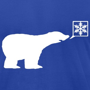 Polar bear, calls for ice, snow flake Global Warming T-Shirts - Men's T-Shirt by American Apparel