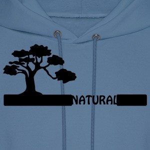 Natural, natural tree shape on grader. Hoodies - Men's Hoodie