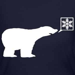 Polar bear, calls for ice, snow flake Global Warming Long Sleeve Shirts - Women's Long Sleeve Jersey T-Shirt