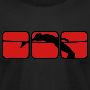 High Jump 3 T-Shirts - Men's T-Shirt by American Apparel