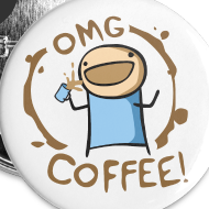 Design ~ OMG Coffee BUTTON 5pk!