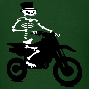 Skeleton with cylinder moves Motorcross Bike T-Shirts - Men's T-Shirt