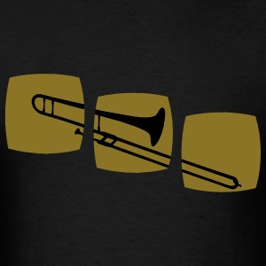 Trombone, trombone player motif band musicians, jazz and other genres.  T-Shirts - Men's T-Shirt