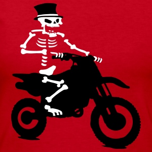 Skeleton with cylinder moves Motorcross Bike Long Sleeve Shirts - Women's Long Sleeve Jersey T-Shirt