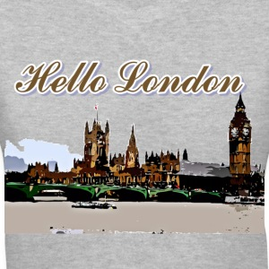 Hello London Tower Bridge Women's V-Neck T-Shirt - Women's V-Neck T-Shirt