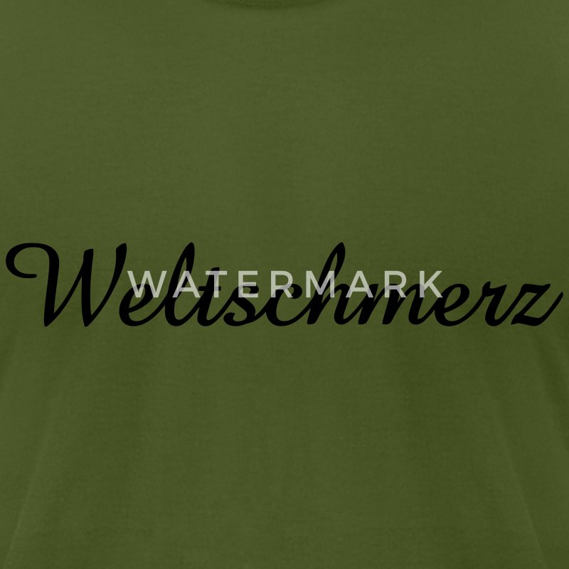 weltschmerz World-weariness  T-Shirts - Men's T-Shirt by American Apparel
